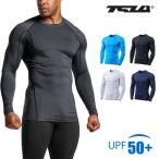 オールシーズン スポーツシャツ ラウンドネック コンプレッションウェア 加圧シャツ テスラ TESLA MUD11-WHT/KLB
