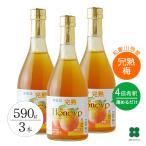 梅シロップ 梅ジュース セット 希釈用梅ドリンク 完熟梅ハニップ 590g×3本 梅