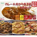 レトルトカレー&丼レトルト 各3袋6袋セット カレー