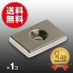 小さくても 超強力 磁石 1個 長方形皿穴付き ネオジウム磁石 マグネット 30mm×20mm×5mm ネジ5mm 鳩よけ