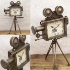レトロデイズクロック カメラ 置時計 時計 とけい アンティーク調 店舗