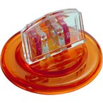 (12/10まで!!エントリーで+10%還元)ミツヤ U型カード立丸 透明橙 M17639  UC-5-TOR