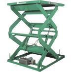 (運賃見積り)(直送品)ビシャモン テーブルリフト 1TON 均等荷重1000kg 揚程1400mm 2X11211B
