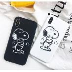 スヌーピー スマホケース iphoneケース モノクロ ペア カップル スマホ iphone SE2 シリコン