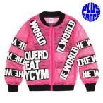 キッズ メッシュ ブルゾン トップス シースルー ワッペン ロゴ ピンク ダンス 衣装 予約商品