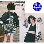 ダンス 和柄 龍 法被 はっぴ 日本風 浴衣 和風 シャツ 和柄シャツ 衣装 予約商品