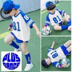 キッズ ダンス セットアップ 上下セット ショートパンツ ゲームシャツ Tシャツ サッカー 韓国 衣装 予約商品