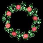 LEDローズリース レッド WG-2403RE クリスマスイルミネーション