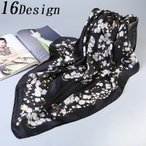 ショッピングスカーフ スカーフ 大判スカーフ 正方形 ストール バンダナ バッグスカーフ デザイン豊富 レディース アクセサリー ファッション小物