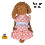 ペットウエア ワンピース 犬服 犬 小型犬 袖なし 水玉 ドット フリンジ フリル スカート ペット服 かわいい