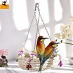 とまり木 鳥用品 ペット用品 鳥用おもちゃ 小動物 巣 かご カラフル かわいい 鈴 吊り下げ スイング インコ オウム