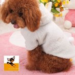 ペット 服 犬 愛犬 ドッグウェア ペット用 ペット用品 ジャケット カジュアル シンプル モコモコ フード付き ヒツジ 冬服 暖かい あったか グッ