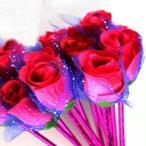 ボールペン 3本セット 油性ボールペン 薔薇モチーフ バラ ローズ フラワーモチーフ お花 花束 紺色 ネイビー 0.7cm 文房具 文具 筆記用具
