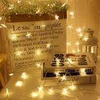 イルミネーションライト LEDライト 電池式 星型 スター ハロウィン クリスマス 1.5m 3m 4.5m デコレーション 飾り付け 電飾 パーティ