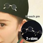 ブローチ ピン アクセサリー ユニセックス ワンポイント 40mm 小さい 眼鏡 めがね ブラウス シャツ キャップ おしゃれ 可愛い 個性的 プレゼ