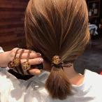 ヘアゴム ヘアアクセサリー ヒョウ柄 アクリルボール レオパード 髪飾り レディース 女性用 カジュアル かわいい おでかけ