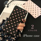 Phoneケース iPhoneカバー スマホケース スマホカバー ハート ハート柄 ピンク ブラック 背面保護 傷予防 傷防止 携帯電話保護 iPho