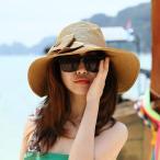 草帽 - リボン付き帽子 リボン付きハット カンカン帽 つば広 つば広ハット つば広帽 女優帽 麦わら帽子 折り畳み 折りたたみ帽 折り畳み帽 日よけ 日よけ帽