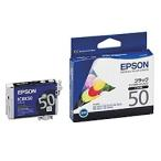 【在庫目安:あり】EPSON  ICBK50 メーカー純正 インクカートリッジ ブラック