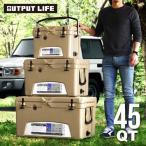 クーラーボックス おしゃれ 大型 OUTPUT LIFE × アイスランド 45QT (42.6L)
