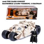 JADA TOYS 2008 THE DARK KNIGHT BATMOBILE W BATMAN D CAMO バットマン ダークナイト バットモービル タンブラー 迷彩 ダイキャスト ミニカー