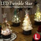 クリスマスツリー おしゃれ 卓上 LEDトゥインクルスター (L) オーロラベリー/オーロラグラス/オーロラツリー