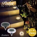 ガーデンライト ソーラー 屋外 LED パレ ソーラーグランドライト 2個セット