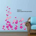 ウォールステッカー スプリング フラワー ピンク 花