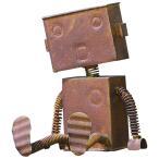 村田屋 ロボットの置物 ブリキロボット 中