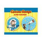 おさるのジョージ 缶バッジセット(宇宙服)curious george CG-CB002 キャラクター グッズ メール便OK