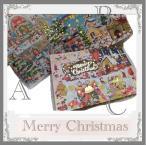 クリスマスカード ゴールドプリント輝くサンタカード ロッジ 虹 ケーキ ファンタジッククリスマスカード お届け方法ゆうパケットメール便 ネコポス