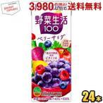 カゴメ 野菜生活100 ベリーサラダ 200ml紙パック 24本入 (野菜ジュース エナジールーツよりリニューアル)