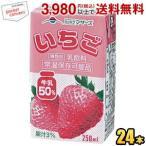 らくのうマザーズ いちご 250ml紙パック 24本入 (苺牛乳 いちご牛乳)