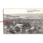 XyF9850北海道 小樽名勝 繁盛を極むる小樽市西部の展望 左方の突出は高架桟橋 *傷み有り【絵葉書