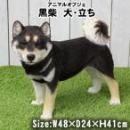 犬 オブジェ 大型 大きめ 柴犬 置物 玄関 庭 犬 置物 黒芝 置物