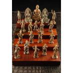 釈迦三尊 縁起物 仏像 十六善神 仏具の通販 19体セット 木台無し