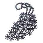 大きなアンティーク花束ブローチ ブラック
