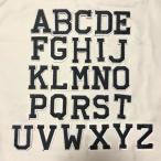 特価品 アルファベット ワッペン 1枚