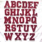 レッド アルファベット ワッペン 1枚