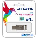 【在庫目安:お取り寄せ】A-DATA Technology  AUV131-64G-RGY USBフラッシュメモリ AUV131シリーズ 64GB クロムグレー USB3.1対応
