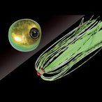 ジャッカル(JACKALL) タングステン鯛カブラ ビンビン玉 スライド 120g グリーンゴールド/蛍光グリーン