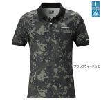 シマノ エクスプローラーポロシャツ 半袖 SH 073S ブラックウィードカモ Lサイズ
