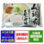 「北海道 生ラーメン 山頭火 送料無料」 本店のまかないラーメン あわせ  なま・2食入(スープ付き)「送料無料 ポスト投函 生ラーメン」