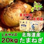 「北海道 玉ねぎ 送料無料」 北見近郊産 共選 玉葱(たまねぎ) L大サイズ 20kg
