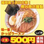 ポイント消化 500円 送料無料 味一番! かっぱラーメン しょうゆ 2食入 おすすめ 食品 ラーメン
