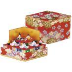 雛人形 ひし形ミニ収納雛二段手作り和紙細工 収納小箱雛  マンションサイズ コンパクト リュウコドウ ひなまつり 桃の節供