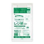 バイオマスプラスチック使用レジ袋 薄手タイプ ブロック有 西日本30号(東日本12号) 0.011mm厚 乳白 100枚 1冊130円 BPRSK-30bara