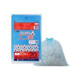 ごみ袋 20L0.015mm厚 青 KN-21bara 10枚バラ 1冊36円