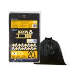 ごみ袋 20L0.015mm厚 黒 KN-22bara 10枚バラ 1冊36円