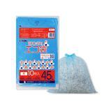 ごみ袋 45L0.015mm厚 KN-51bara 青 10枚バラ 1冊53円